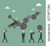 illustration of business people ... | Shutterstock .eps vector #327397184