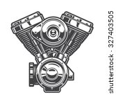 Illustration Of Motorcycle...