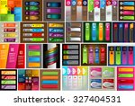 colorful modern text box... | Shutterstock .eps vector #327404531