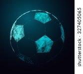 abstract football ball.... | Shutterstock . vector #327405065