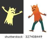 fancy dress        ghost. ghost ...   Shutterstock .eps vector #327408449