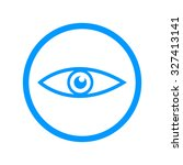 eye icon. flat design style eps ... | Shutterstock .eps vector #327413141