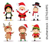 illustration of cute kids... | Shutterstock .eps vector #327414491