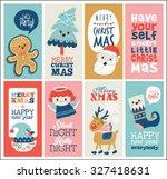 set of christmas cards | Shutterstock .eps vector #327418631