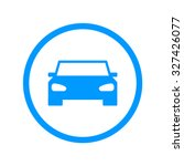 car icon. flat design style eps ... | Shutterstock .eps vector #327426077
