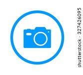 camera   vector icon. flat...