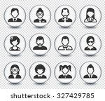 people face set on transparent... | Shutterstock .eps vector #327429785
