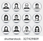 people face set on transparent... | Shutterstock .eps vector #327429809