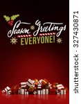 seasons greetings everyone for... | Shutterstock . vector #327430871