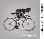 cycling race. vector artwork in ... | Shutterstock .eps vector #327431804