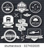 military army set label... | Shutterstock .eps vector #327432035