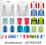 collection of various male long ... | Shutterstock .eps vector #327434765