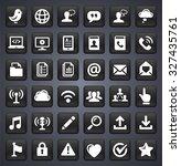modern communication and online ... | Shutterstock .eps vector #327435761