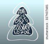 marry christmas card   vector... | Shutterstock .eps vector #327437681