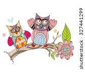 owl vector   Shutterstock .eps vector #327441299
