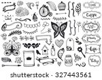 set of vintage sketch elements. ... | Shutterstock .eps vector #327443561