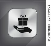 pictograph of gift | Shutterstock .eps vector #327449921