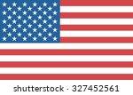 american flag. | Shutterstock .eps vector #327452561
