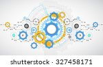 abstract technology gears... | Shutterstock .eps vector #327458171