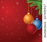 vector christmas background... | Shutterstock .eps vector #327459317