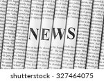 stack of newspapers with small... | Shutterstock . vector #327464075