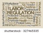 labor regulation word cloud on... | Shutterstock . vector #327465335