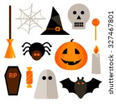 set of halloween elements | Shutterstock .eps vector #327467801