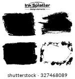 ink blot splash collection set  ...   Shutterstock .eps vector #327468089