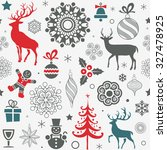 christmas and new year's... | Shutterstock .eps vector #327478925