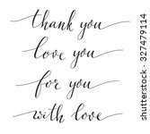hand written calligraphy style... | Shutterstock .eps vector #327479114