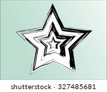 set of three star vector design ... | Shutterstock .eps vector #327485681
