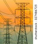 high voltage transmission line...   Shutterstock . vector #327486725