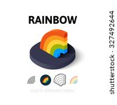 rainbow icon  vector symbol in...