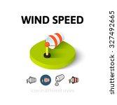 wind speed icon  vector symbol...