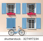 illustration of windows with... | Shutterstock .eps vector #327497234