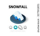 snowfall icon  vector symbol in ...