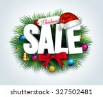 3d christmas sale text for...
