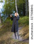 woman walking in the park | Shutterstock . vector #327508841