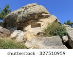 Small photo of Ruins of ancient ancient city of Labranda in Turkey