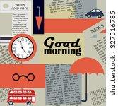 retro newspaper background   Shutterstock .eps vector #327516785