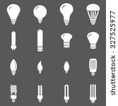 light bulbs icons set... | Shutterstock .eps vector #327525977