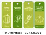 set of hand drawn labels with... | Shutterstock .eps vector #327526091