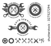 auto service labels emblems and ... | Shutterstock .eps vector #327527294