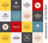 vintage frames  labels. tennis...   Shutterstock .eps vector #327527867