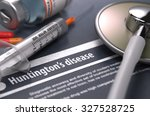 huntington's disease   printed... | Shutterstock . vector #327528725