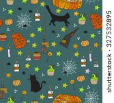 halloween seamless pattern.... | Shutterstock .eps vector #327532895