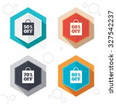 hexagon buttons. sale bag tag... | Shutterstock .eps vector #327542237