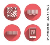 bar and qr code icons. scan... | Shutterstock .eps vector #327547571