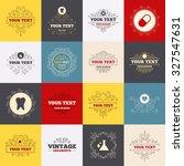 vintage frames  labels.... | Shutterstock .eps vector #327547631