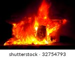 abstract photo of burning... | Shutterstock . vector #32754793